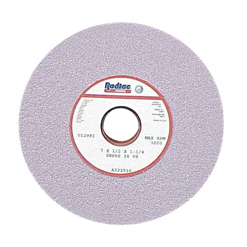 RADIAC Ceramic Surface Grinding Wheel - Size: 8''X 1/2''X 1-1/4'' STYLE: Type 01 Straight Specification: 8BP60-H800-VOS by RADIAC