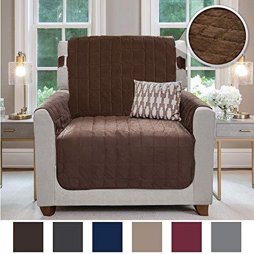 Resistant Seat (Gorilla Grip Original Velvet Slip Resistant Luxurious Chair Slipcover Protector, Seat Width Up to 23