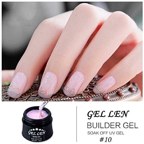 Gellen Professional Extension Poly Gel Soak Off UV Builder Gel Set Acrylic  Nail Kit, DIY Home Gel Manicure (15ml, 4 Colors)