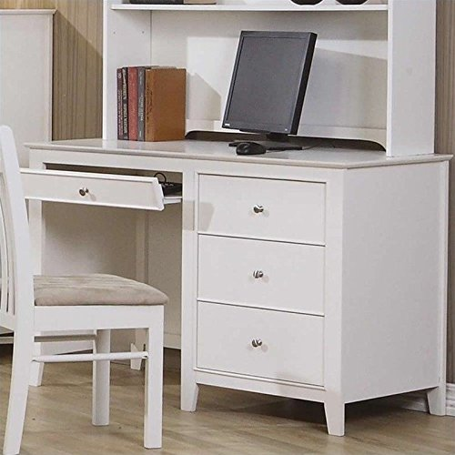Coaster Home Furnishings Selena Computer Desk with Drawer Storage White