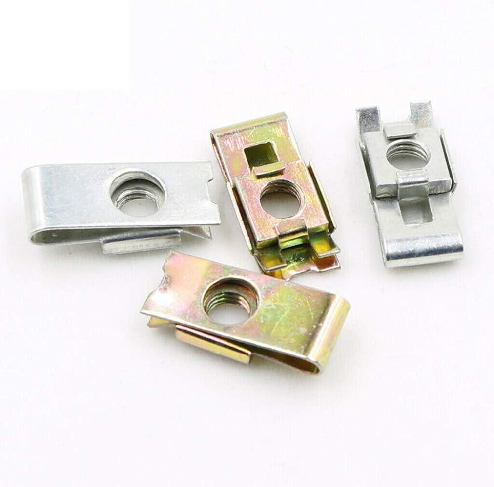 M3 20 pcs Carbon Steel Clip Nut Insert Nuts Hardware Accessories M3//M4//M5