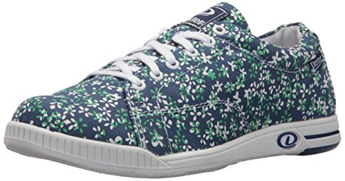 Bowling Shoes, Blue/Floral, Size 9.5 (Dexter Bowling Shoes Women)
