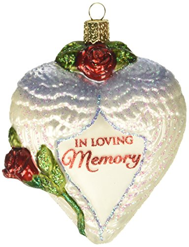 Old World Christmas Ornaments: in Loving Memory Glass Blown Ornaments for Christmas ()