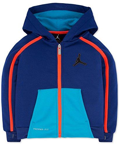 (Jordan Boys Victory Zip Colorblocked Hoodie Deep Royal Size M)