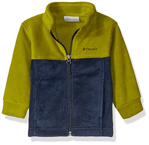 - Columbia Unisex Baby Infant Steens Mt II Fleece, Python Green/Collegiate Navy, 3/6