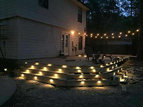 FVTLED 30pcs Low Voltage LED Deck Lights kit Φ1.38'' Outdoor Garden Yard Decoration Lamp Recessed Landscape Pathway Step Stair Warm White LED Lighting, Bronze by FVTLED (Image #8)
