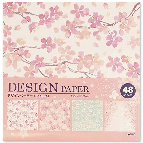 (Beautiful Japanese Origami Paper (a.k.a. Chiyogami) (Each Contains Four Different Designs) Made in Japan (Sakura(Cherry Blossoms)))