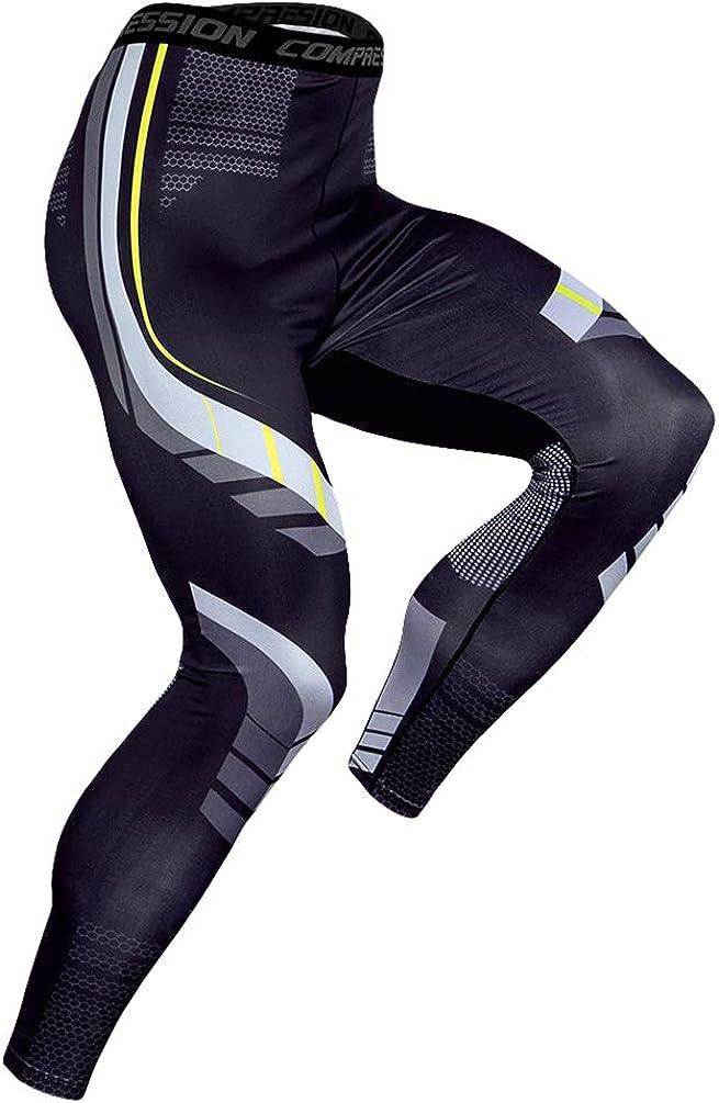 ad Asciugatura Rapida DISHANG Leggings Sportivi a Compressione da Uomo