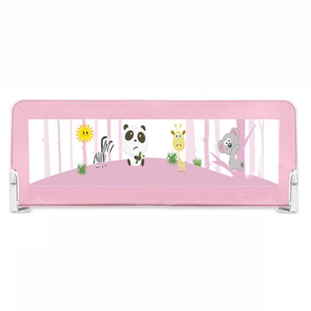 XIAOMEI ベッドフェンスベビー飛散防止フェンス大きなベッドの安全折り畳み式バッフル1.5-2メートル普遍的な ベッドの手すり 2m Pink B07GMP6TZ7