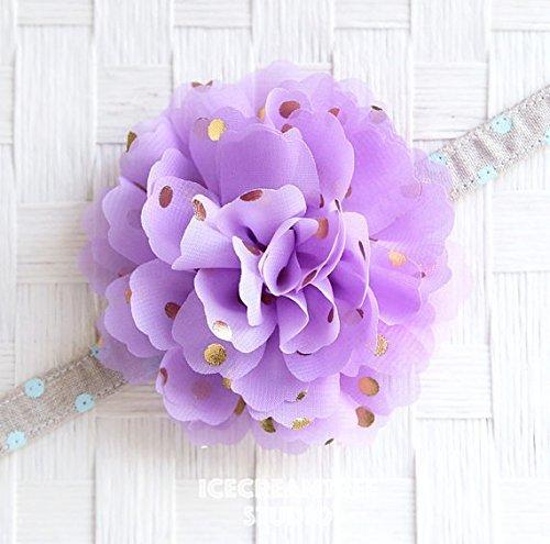 Jumbo Gold Foil Dot Bloom Collar Slide On, Flower Collar Accessories, Corsage Accessories, Collar Add On, Collar Flower - Soft Lilac