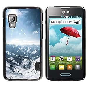 LECELL -- Funda protectora / Cubierta / Piel For LG Optimus L5 II Dual E455 E460 -- Nature Snowy Mountain --