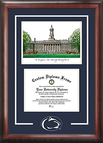 Campus Images PA994SG Penn State Nittany Lions Spirit Graduate Diploma Frame, 8.5