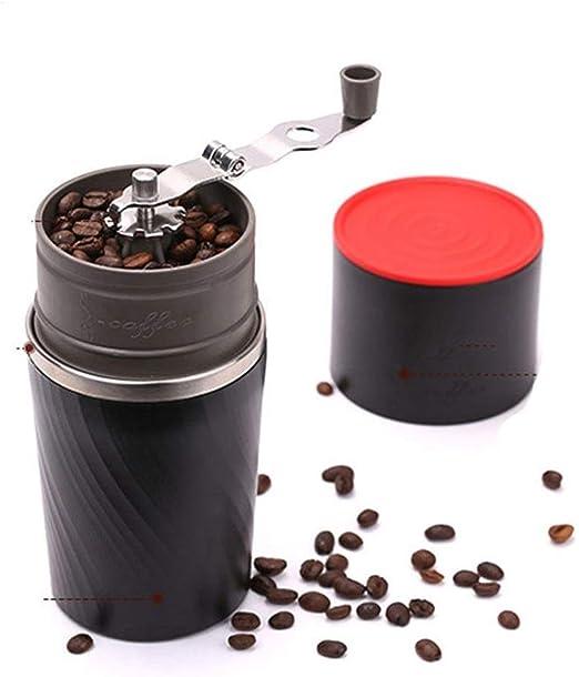 HJKH Cafetera con Molinillo 4 en 1 Camping del Grano de café del Viaje del café Rectificadora elaborado Cerveza Taza de café Grinder (Color : Negro, tamaño : Un tamaño): Amazon.es: Hogar