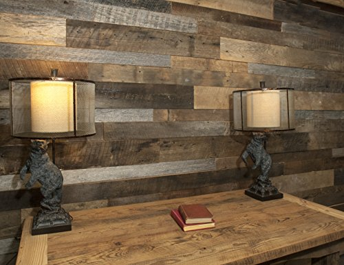 Four Seasons Reclaimed Barnwood Shiplap, Mixed hardwoods with shades of brown and gray, 3
