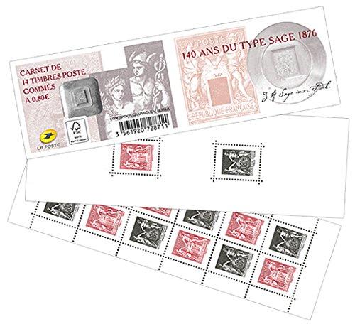 LA POSTE CARNET 1523 Timbres Neufs Type Sage Rouges & Noirs Imprimerie Nationale