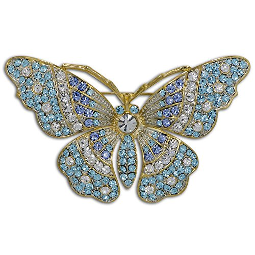 Butterfly Russian Enameled Crystal Royal (Enameled Butterfly Brooch)