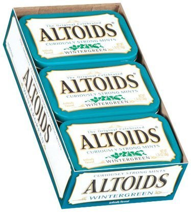 1.76 Ounce Tin Container (Altoids Wintergreen Candy, 1.76oz Tin Container, 12 Containers/box)