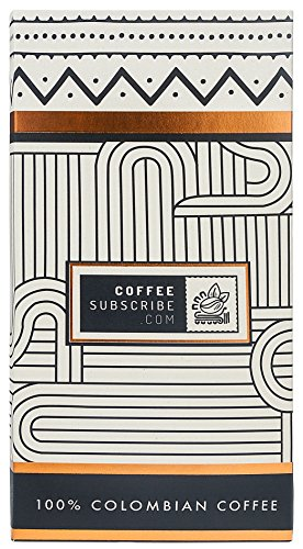 Gourmet Coffee Beans by Coffeesubscribe - Dark Roast, Whole Bean, Premium Arabica Coffee Variety, Artisan Grown, Small Batch Mountain Coffee, 100% Colombian Cafe (1 LB/16 OZ Coffee Bag) - DW
