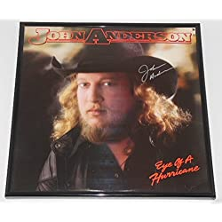 John Anderson Eye Of A Hurricane Signed Autographed Lp Record Album with Vinyl Framed Loa