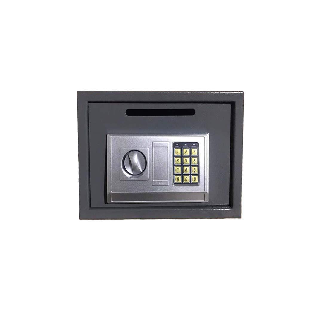 Coffre-fort /à fixation murale 4.6L 17/x 23/x 17/cm En acier S/écurit/é /électronique num/érique Avec m/écanisme de verrouillage avec 2/cl/és Pour maison blanc Blanc bureau