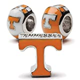 University of Tennessee Bead Charm Set | Set of Three Tennessee Charms | Tennessee Volunteers Stainless Steel Jewelry | Tennessee Gift | Product | Fits Most Popular Charm Bracelets