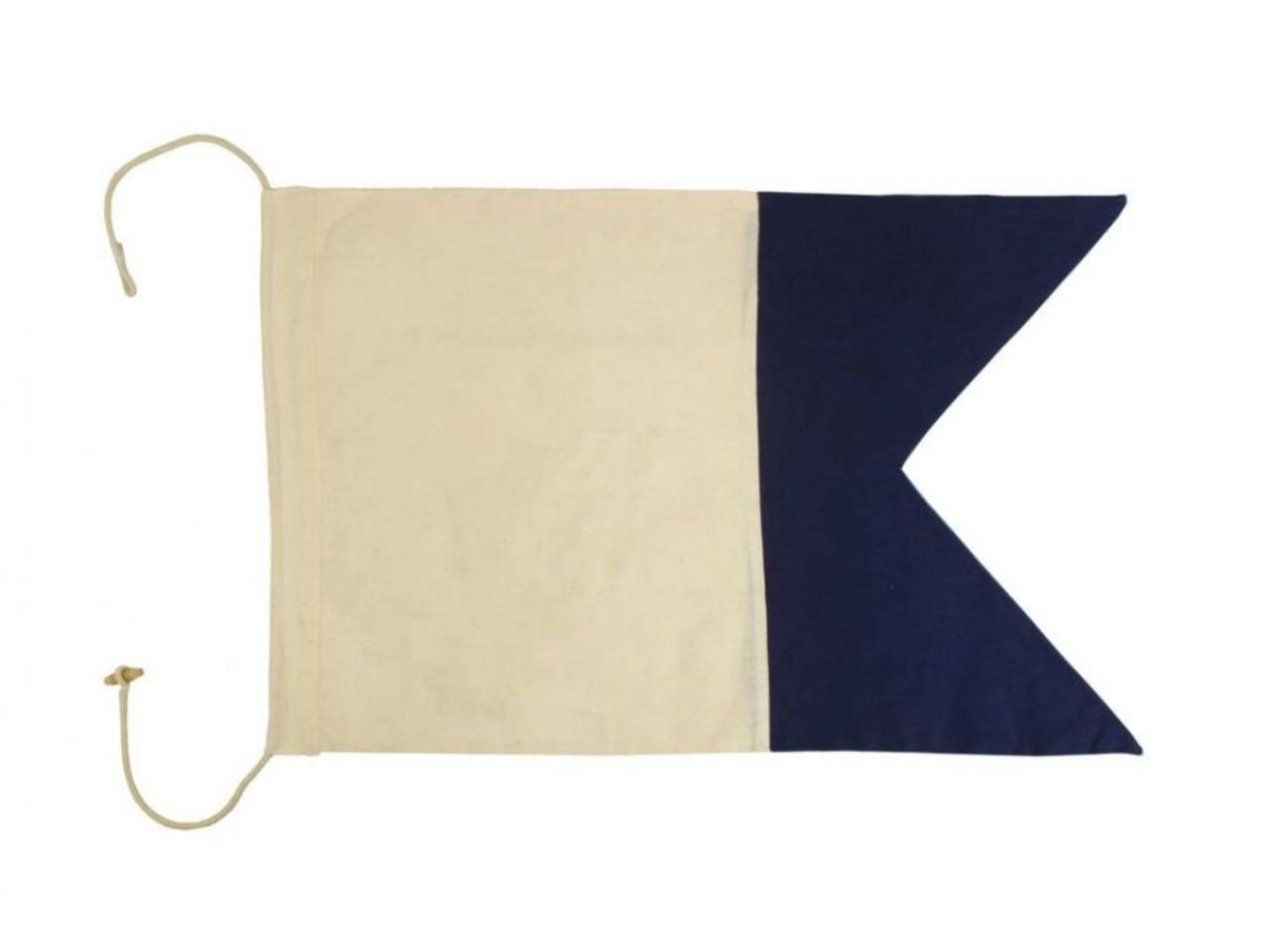 Hampton Nautical  Letter A Nautical Cloth Alphabet Flag, Decor, Home Decoration, Wall Art Tool, 20''