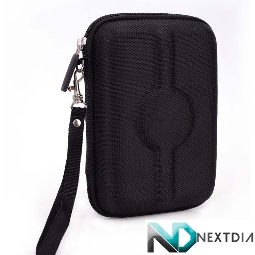 Portable Travel Vape Carrying Case suitable for Ego T 900 Mah Glass Globe wax oil vaporizer G-Pen  (BLACK NYLON HARD SHELL) Includes Carabiner Hook for Easy Attachment + NextDIA Velcro Tie (Vaporizer Globe Pen compare prices)
