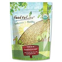 Food To Live Certified Organic Buckwheat Groats (Raw, Hulled, Non-GMO, Bulk) (8 Ounces)