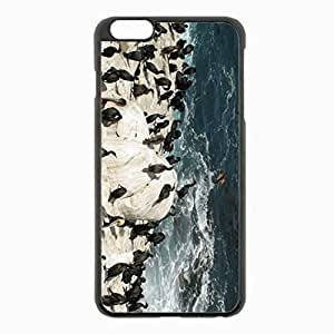 iPhone 6 Plus Black Hardshell Case 5.5inch - penguins antarctica flock birds Desin Images Protector Back Cover