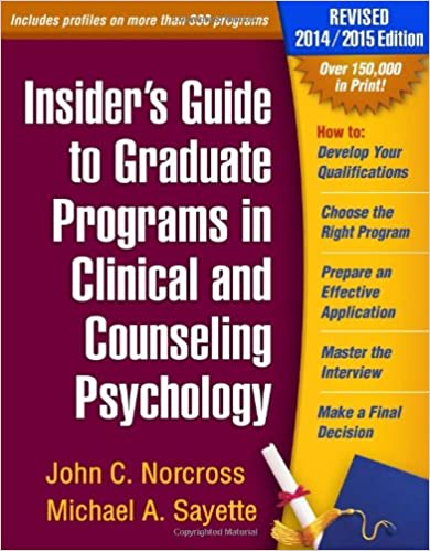 Amazon.com: Insider's Guide to Graduate Programs in Clinical and ...