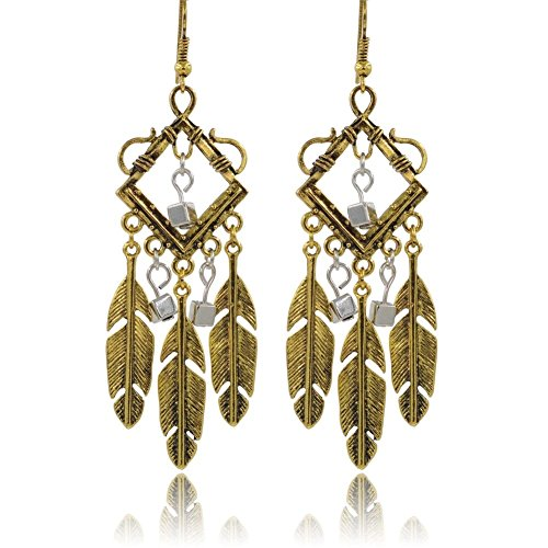 Homemade Gypsy Costumes Ideas For Kids (ER1200024C2 Fashionable Alloy Retro Feather Plating Women's Earring)