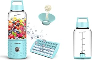 Portable Blender, PopBabies Personal Blender, Smoothie Blender. Rechargeable USB Blender & Travel Bottle