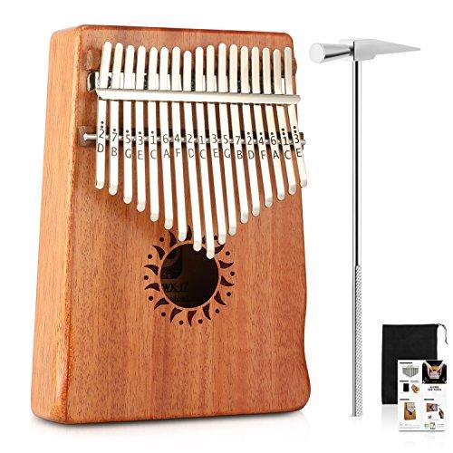 Donner 17 Key Kalimba Thumb Piano Solid Finger Piano Mahogany Body DKL-17