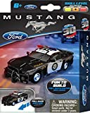 "Max Traxxx Mini 4"" Officially Licensed Ford Mustang Police Car 3D Build and Play Motorized Puzzle Pull-Back Car"