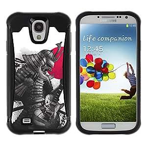 ZAKO Cases / Samsung Galaxy S4 I9500 / Japanse Guitar Samurai / Robusto Prueba de choques Caso Billetera cubierta Shell Armor Funda Case Cover Slim Armor