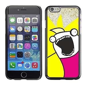 EJOY---Cubierta de la caja de protección la piel dura para el / Apple Iphone 6 Plus 5.5 / --Funny Face Troll Meme Wtf