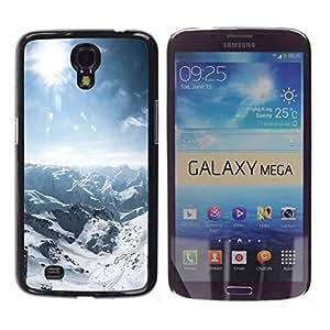 LASTONE PHONE CASE / Carcasa Funda Prima Delgada SLIM Casa Carcasa Funda Case Bandera Cover Armor Shell para Samsung Galaxy Mega 6.3 I9200 SGH-i527 / Nature Snowy Mountain