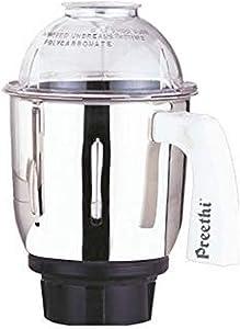 Preethi MGA515 Medium Mixer Jar for Eco Twin, Eco Plus, Nitro and Blue Leaf, 1-Liter, Silver