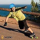 PHZ. Kid's/Adult Bike & Skateboard Helmet with CPSC Certified, Adjustable System Ideal for Skateboard Longboard Scooter Skate/Inline Skating