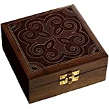 Amazoncom Beautiful Korean Artisan Carmine Red Jewelry Box with