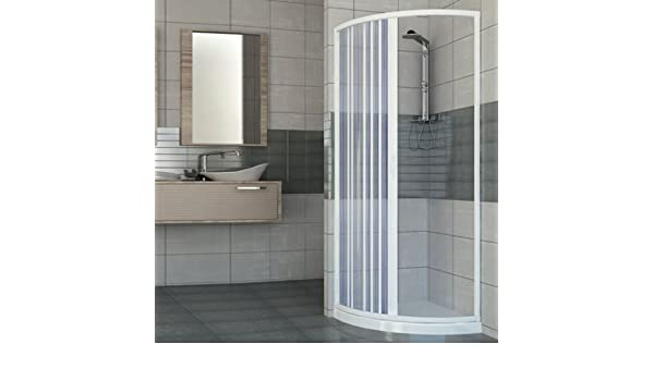 Mampara de ducha de pvc inoxidable redondo cm H Mod. Giove 185 cm ...