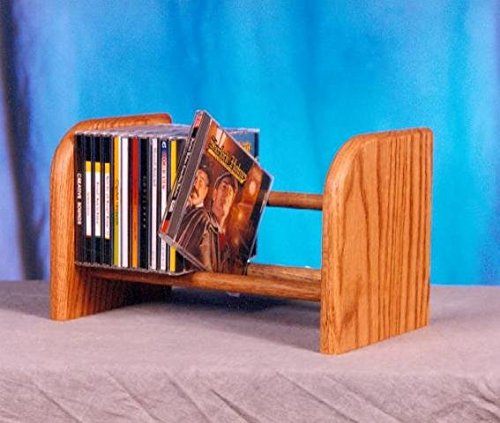 Dowel CD Rack w 1 Row (Honey Oak) by Wood Shed