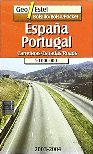 Spain & Portugal Pocket Map 1:1, 000, 000 main Routes Mapas de ...