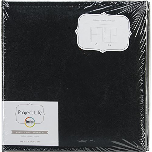 Becky Higgins Midnight 6x8 Faux Leather Album ()