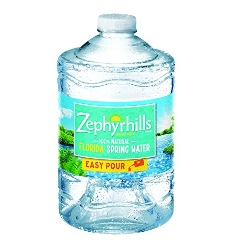 Zephyrhills 100% Natural Spring Water plastic jug with handle, 101.4 oz