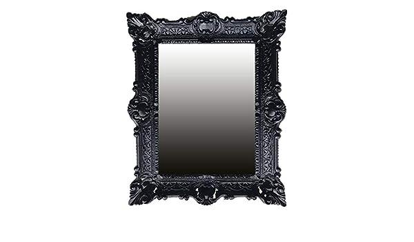 Lnxp Espejo de Pared Barroco Espejo Espejo en Negro ...