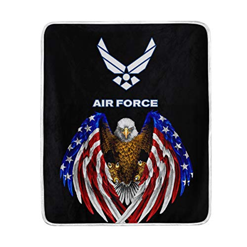 poeticcity 1PC Blanket, US American Air Force USAF Plush Throws Siesta Camping 50
