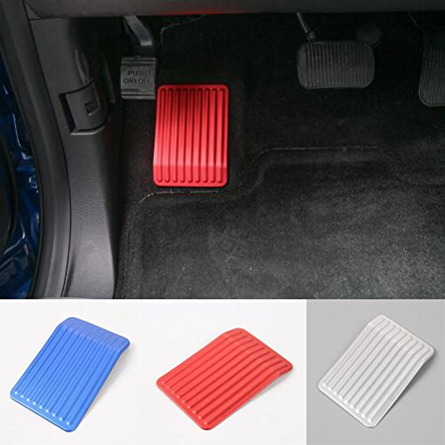 Highitem Left Rest Foot Step Gas Dead Pedal Anti Slip Aluminum Alloy For Ford F150 F-150 2015 16 17 Up (Red)