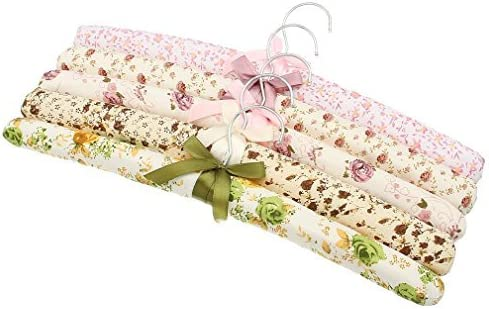 39*3cm Random Color La vogue 5Pcs flores patr/ón rural estilo arco esponja suave Perchas