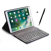 iPad 9.7 キーボードケース 2018/2017/Pro 9.7/Air/Air 2 通用ケース ペンを付きBroadcomチップを採用 Bluetooth 対応 多角度調整 日本語説明書付着 マグネット脱着式 by EBEAUTYDAY